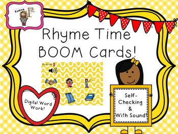 Rhyme Time Click & Find Boom Task Cards