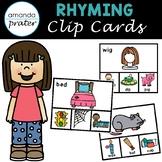 Rhyming Clip Cards CVC Edition