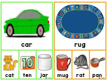 Rhyming Clip Cards- CVC Words