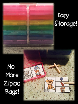 Rhyming Clip Cards {Easy Storage!}