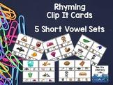 Rhyming Clip-It Cards (CVC)