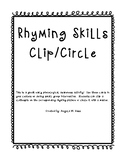 Rhyming Clip and/or Circle