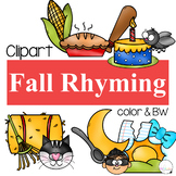 Rhyming Clipart {Fall Clipart}