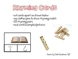 Rhyming Clothes pin Clip It Cards