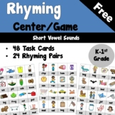 Rhyming Center or Game for Short Vowels