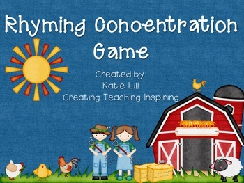 Rhyming Concentration Game