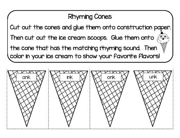 Rhyming Cones : Blended Sounds