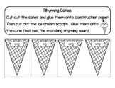 Rhyming Cones : Glued Sounds