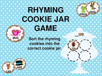 Rhyming Cookie Jar Game