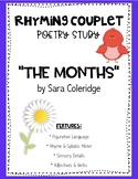 """Rhyming Couplet Poetry Study/Lesson """"The Months,"""" Figurative Language"""