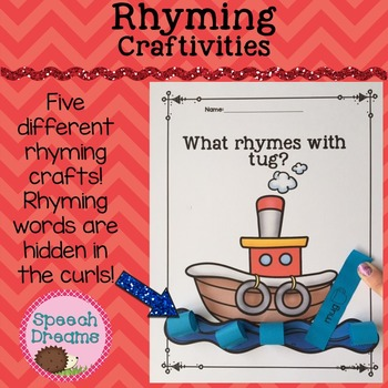 Rhyming Crafts {Phonological Awareness Word Recognition Phonics Craftivity}