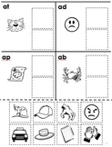 Free Rhyming Cut and Paste for Phonological Awareness Workshee--Phonics / Phonem