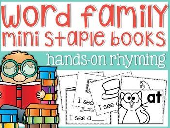 Rhyming Cut and Staple Mini Books