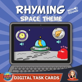 Rhyming Digital Boom Task Cards