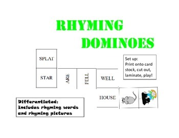 Rhyming Dominoes!