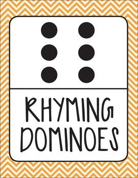 Rhyming Dominoes Game