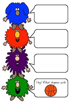 Rhyming Dust Bunnies - Literacy Rhyming Unit