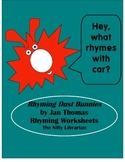 Rhyming Dust Bunnies Rhyming Worksheets Kindergarten, 1st Grade, Pre-K