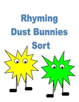 Rhyming Dust Bunnies Sort