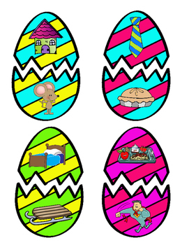 Rhyming Easter Eggs Matching Activity