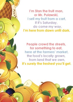Rhyming Ebook Stan the Fruit Man with book report and tally sheet activities