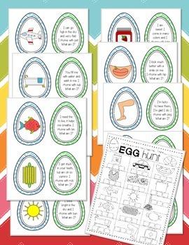 Rhyming Egg Hunt {Easter Center Freebie}