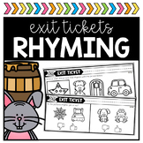 Rhyming Exit Tickets