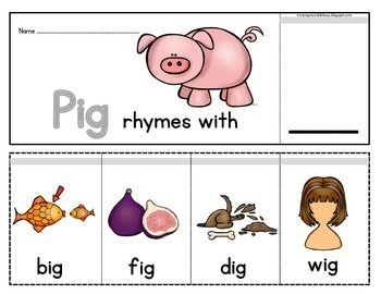 Rhyming FLIP BOOKS - Word Families - Literacy Centers - How to Rhyme