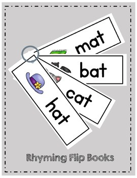 Rhyming FLIP & READ - Game - Fluency - Centers - Word Families