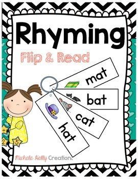 Rhyming FLIP & READ - Game - Fluency - Centers - Word Families