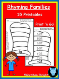 Rhyming Families - 15 Printables