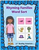 Rhyming Families Word Sort