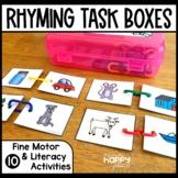 Rhyming Fine Motor Skills Task Boxes