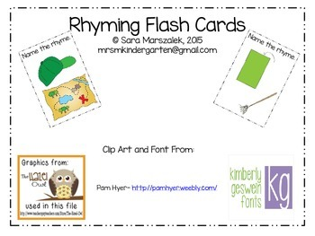 Rhyming Flash Cards