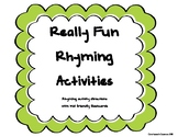 Rhyming Flashcards and Activities