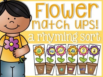 Rhyming Flower Match-Ups
