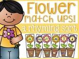 Rhyming Flower Match-Ups