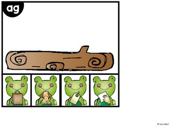 Rhyming Frogs on the Log
