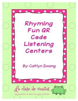 Rhyming Fun QR Code Listening Centers
