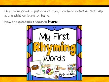 Rhyming Game - FREE!