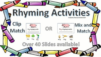 Rhyming Game Activities