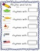 Rhyming Game Activities Worksheet