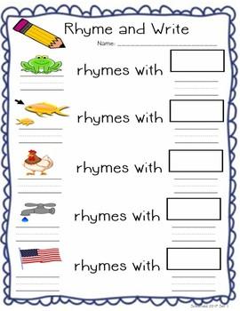 Rhyming Game Activities Worksheet