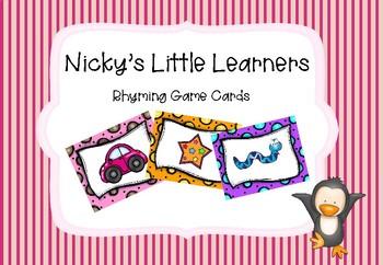 Rhyming Game Cards