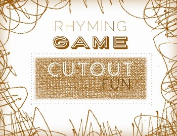 Rhyming Game Cut Out Fun