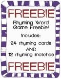 Rhyming Game FREEBIE