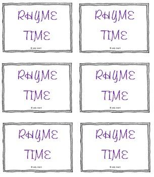Rhyming Game Rhyme Time