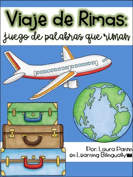 Rhyming Game in Spanish- Travel Theme