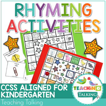 rhyming activities and games by teaching talking tpt