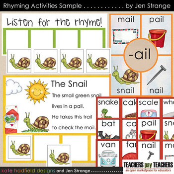 Rhyming Games and Activities - SAMPLE
